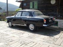 Bella vecchia automobile nera del temporizzatore fotografia stock