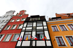 Bella vecchia città a Danzica Fotografie Stock Libere da Diritti