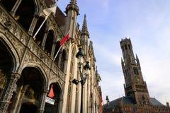 Bella vecchia città di Bruges Immagine Stock
