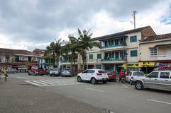 Bella vecchia città di Penol Immagini Stock