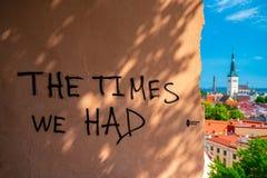 Bella vecchia città di Tallinn in Estonia immagine stock libera da diritti