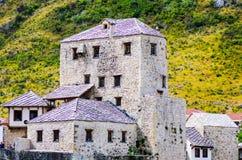 Bella vecchia città Mostar fotografie stock