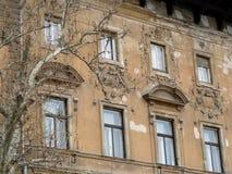 Bella vecchia costruzione a Budapest (Ungheria) Immagini Stock Libere da Diritti