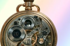 Bella vecchia macchina dell'orologio immagine stock libera da diritti