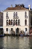 Bella vecchia villa sul grande Canalat Venezia Italia Immagini Stock Libere da Diritti