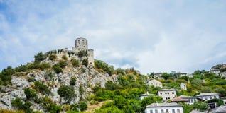Bella vecchia vista della città Immagine Stock