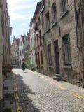 Bella via a Bruges, Belgio fotografie stock libere da diritti