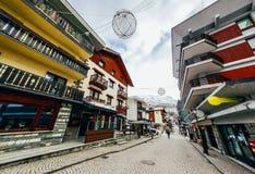bella via della città austriaca Fotografie Stock Libere da Diritti