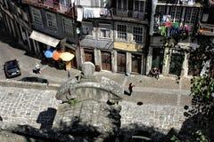 Bella via di Oporto, Portogallo Fotografia Stock