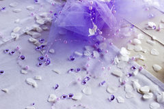Bella Violet Wedding Decoration Stuff Immagine Stock Libera da Diritti