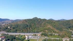 Bella vista aerea della campagna Immagine Stock
