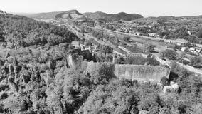 Bella vista aerea della campagna Fotografia Stock