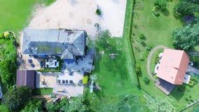 Bella vista aerea della campagna Immagini Stock
