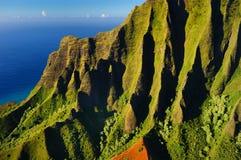 Bella vista aerea della costa del Na Pali Fotografia Stock Libera da Diritti