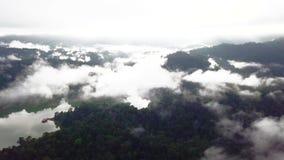 Bella vista aerea di Belum reale Malesia video d archivio