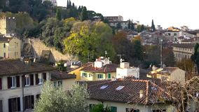 Bella vista aerea di Firenze da Piazzale Michelangelo Firenze, Italia stock footage