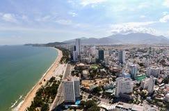 Bella vista aerea di panorama della spiaggia della Gold Coast immagine stock