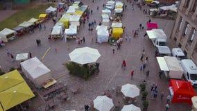 Bella vista aerea di vecchia città di Riga archivi video