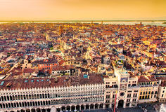 Bella vista aerea panoramica di Venezia fotografia stock libera da diritti