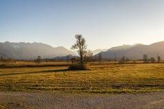 Bella vista al Murnauer Moos in Baviera Fotografie Stock