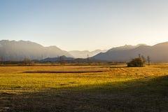 Bella vista al Murnauer Moos in Baviera Immagini Stock