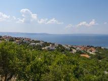 Bella vista alla costa croata Immagine Stock