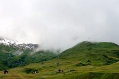 Bella vista in alpi svizzere Immagine Stock