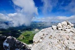 Bella vista alpina Fotografie Stock
