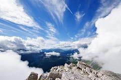 Bella vista alpina Fotografia Stock