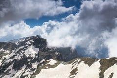 Bella vista alta nelle montagne Immagine Stock Libera da Diritti