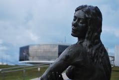 Bella vista architettonica Brasile di nordest blu immagini stock