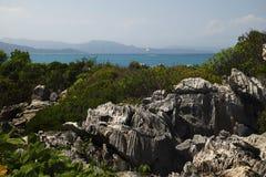 Bella vista caraibica Immagini Stock
