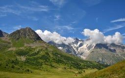 Bella vista da Col du Lautaret, Francia Fotografia Stock Libera da Diritti