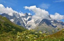 Bella vista da Col du Lautaret, Francia Fotografie Stock