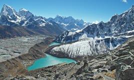 Bella vista da Gokyo Ri, regione di Everest, Nepal Immagine Stock