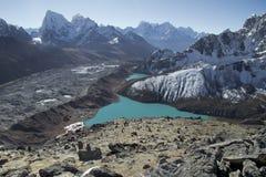 Bella vista da Gokyo Ri, regione di Everest, Nepal Fotografia Stock