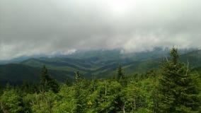 Bella vista da le montagne fumose Fotografie Stock