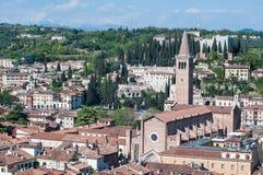 Bella vista dal lamberti della torre di Verona Immagine Stock Libera da Diritti