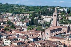 Bella vista dal lamberti della torre di Verona Fotografia Stock
