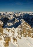 Bella vista dal picco di più alta montagna Zugspitze vicino a Garmisch Partenkirchen La Baviera, Germania Immagine Stock Libera da Diritti