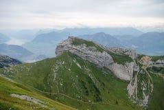 Bella vista dal supporto Pilatus, alpi svizzere, Lucerna, centrale Fotografie Stock