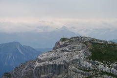 Bella vista dal supporto Pilatus, alpi svizzere, Lucerna, centrale Fotografia Stock