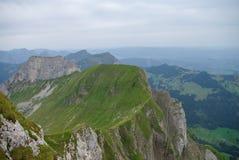 Bella vista dal supporto Pilatus, alpi svizzere, Lucerna, centrale Fotografia Stock Libera da Diritti