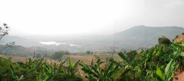 Bella vista dalla montagna fotografia stock