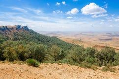 Bella vista dalla montagna alla valle Fotografia Stock