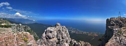 Bella vista dalla montagna Panorama Fotografie Stock Libere da Diritti