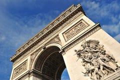 Bella vista del Arc de Triomphe, Parigi Fotografia Stock