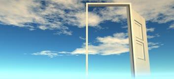 Bella vista del cielo Portelli a cielo fotografie stock libere da diritti