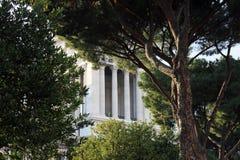 Bella vista del della di costruzione bianco Patria (Vittoriano di Altare Fotografia Stock Libera da Diritti