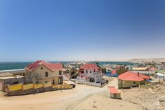 Bella vista del deritz/Luderitz del ¼ della città LÃ del porto in Namibia del sud, Africa Fotografie Stock Libere da Diritti